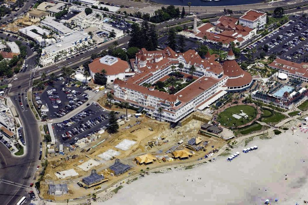 Hotel Del Coronado Beach Villas Da Whitacre Construction